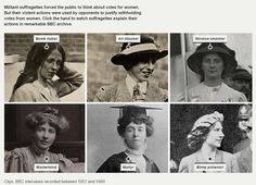 Militant suffragettes forced the public to think about votes for women. But their violent actions were used by opponents to justify withholding votes from women.....Clips: BBC interviews recorded between 1957 and 1969.....