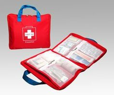 """Briefcase First Aid Kit Red (case only) by Gift Warehouse. $25.00. Material: 400D Nylon, Overall Dimensions: 11.5""""Lx9.25""""Hx1.25""""D. Save 19% Off!"""