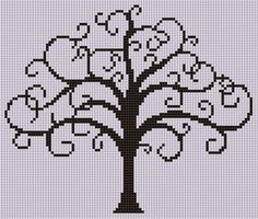 free cross stitch patterns of trees - Google Search