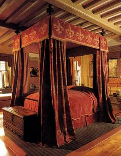A medieval themed bedchamber.