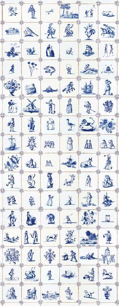 a collection of Delft tiles and transferware plates Blue And White China, Blue China, Love Blue, Delft Tiles, Blue Tiles, White Tiles, Chinoiserie, Tile Design, Web Design