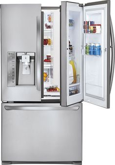 Ft. French Door Refrigerator with Thru-the-Door Ice and Water - Stainless steel & S.Home refrigerator door becomes transparent as you approach it ...