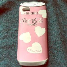 Brand new IPhone 6 Plus pink Mochino Case. Chic pink Moschino IPhone 6 Plus Coca Cola case. Brand new. Super cute. Moschino Accessories