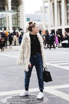 Nyfw Streetstyle 2015 Fur 2