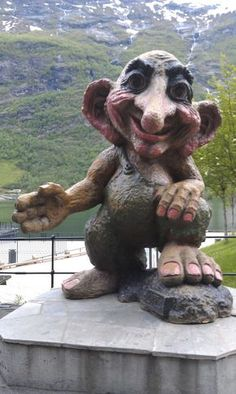 Trolls in Norway are full of mischief. They live under trees and wait for someone to come out for a picnic. Slowly, items in that colored lunch box begin to disappear. Traditions says Trolls and Gnomes began in Norway.