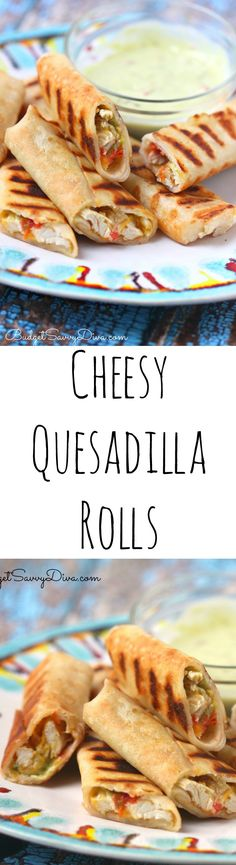 I made these a couple nights ago and my family loved them! Gluten free too! Easy Snack Recipe - Cheesy Quesadilla Roll Recipe