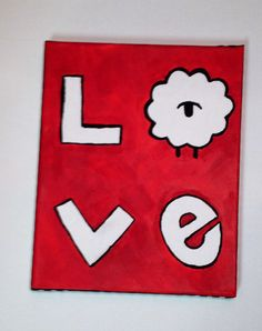 Sigma Phi Lambda Big/Lil lamb love canvas