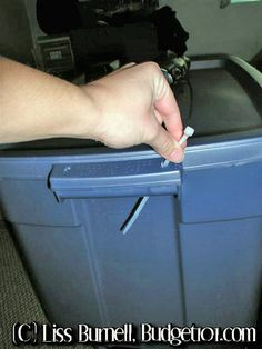Zip tie the tote to lock lid when moving