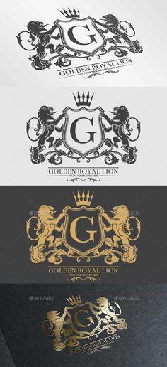 Golden Royal Lion Logo Template #design Download:  http://graphicriver.net/item/golden-royal-lion-vol2/9864196?ref=ksioks