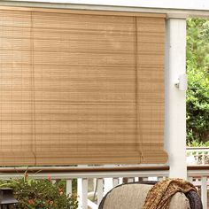 Have to have it. Radiance 1/4 in. Oval PVC Indoor/Outdoor Roll-Up Blind - $21.98 @hayneedle.com