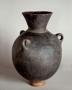 Traditional Terracotta Water pot from Amhara, Africa • (Date Unknown)