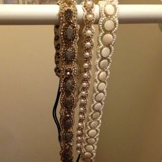 Anthropology headband white pearl headband in the middle only!! Accessories Hair Accessories