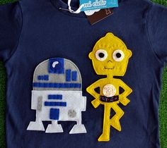 Etsy Star Wars Tshirts.  She has most of the characters. Too cute!