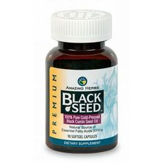 Enjoy Amazing Herbs Black Seed Black Cumin Seed Oil - 90 Softgels every day at these amazing prices! Black Seed - Black Cumin Seed Oil are a rich source of unsa Black Currant Oil, Omega Oils, Cold Pressed Oil, Black Seed, Essential Fatty Acids, Nutritional Supplements, Herbal Remedies, Seed Oil, Natural Oils