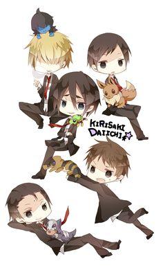 Kirisaki Daiichi High (Hara Kazuya, Furuhashi Koujirou, Yamazaki Hiroshi, Hanamiya Makoto, and Seto Kentarou)