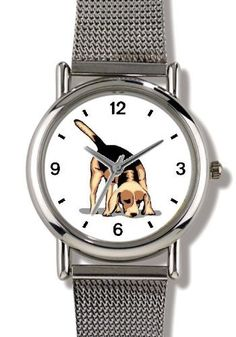 Beagle Dog - WATCHBUDDY® ELITE Chrome-Plated Metal Alloy Watch with Metal Mesh Strap-Size-Small ( Children's Size - Boy's Size & Girl's Size ) WatchBuddy. $79.95. Save 37% Off!