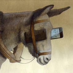 Celular smartphone uso atual viseira burro