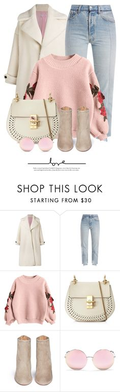 """Roses"" by monmondefou ❤ liked on Polyvore featuring Olympia Le-Tan, Vetements, Chloé, Aquazzura and Matthew Williamson"