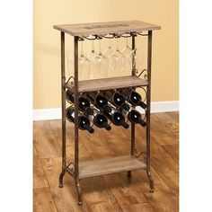 Wooden Wine Bar, wine rack, and wine glass rack