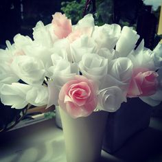 Paper roses, perfect for a wedding