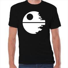 Camiseta friki icono estrella de la muerte