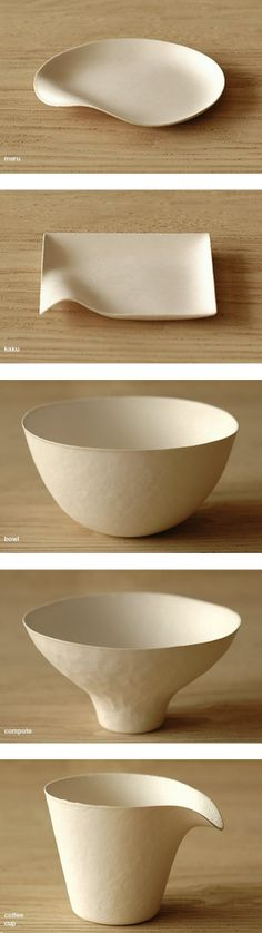 Wasara ~ Japanese eco-paper plates...the pulp (pomace of sugar cane) and bamboo reed, bagasse.