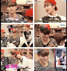 """I'm Yours Now ♡"" Chen and Baekhyun lol #exo"