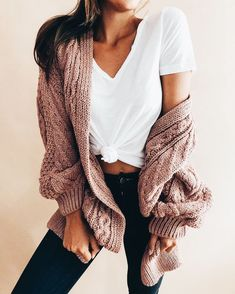 Chellysun Women Long Open Front Cardigan Sweater knits outfits for fall and  winter boyfriend style for women d4b17d344