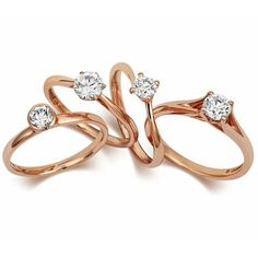wedding rings rose gold - Google Search