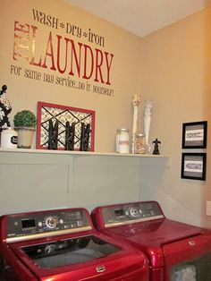 pictures of laundry rooms | Laundry Room Decorations (on NO budget)...i WANT those!!!