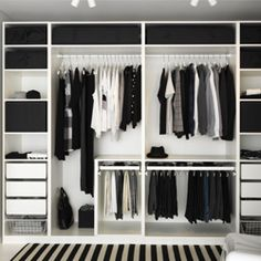 Dressing IKEA wardrobe Forum mode homme de Comme un camion Pax Wardrobe Planner, Ikea Pax Wardrobe, Open Wardrobe, Ikea Closet, Bedroom Wardrobe, Wardrobe Ideas, Pax Planner, Closet Ideas, Closet Small