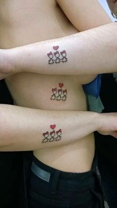 Tattoo idea but with 2 girls and a boy for Dave, holly and me......