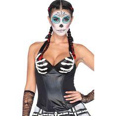 black latex bony hands halter corset ($38) ❤ liked on Polyvore featuring tops, black, halterneck top, halter corset, black corset, wet look top and corset tops