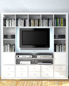 Expedit TV storage solution. Not sure if they make this unit anymore.