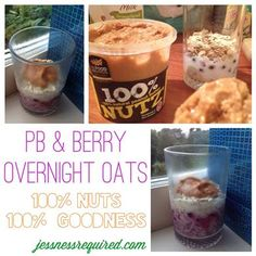 PB & Berry Overnight Oats - The Kitchen Table - The Eat-Clean Diet®