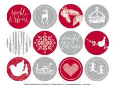 Day 13-FREE Printable Vintage Christmas Tags | Muffin Grayson