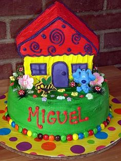 Chandler would love this blues clues cake! Cute Birthday Cakes, 3rd Birthday Parties, Birthday Ideas, Cake Pictures, Cake Pics, Clue Party, Blues Clues, Character Cakes, Cake Decorating