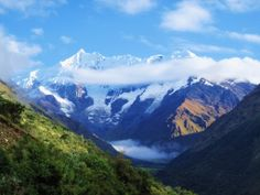Salkantay Trek to Machu Picchu.  The trek follows the Salkantay Glacier, walking from mountain passes of more than 4,000m to warm high jungle landscapes. Great option for those who want to reach Machu Picchu and come into contact with the diverse Andean nature.
