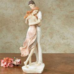 Comforting Moments Embracing Couple Figurine