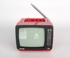 Vintage Portable TV Set From Yugoslavia by TheCuriousCaseShop, €60.00Wish I could afford one of these - nothing like a classic small black and white display