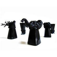Black Animal Shot Glass