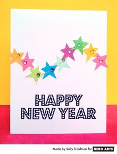 New Year's card by Sally Traidman #HeroArts