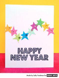 New Year's card by Sally Traidman #HeroArts