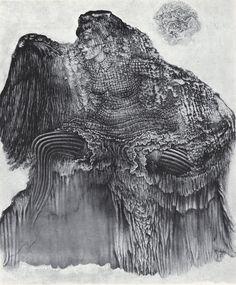 bit of Bellmer:La pauvre Ann,1968    etching aftergoauche transferentitled L'Ange déchu/The Fallen angelfrom 1948
