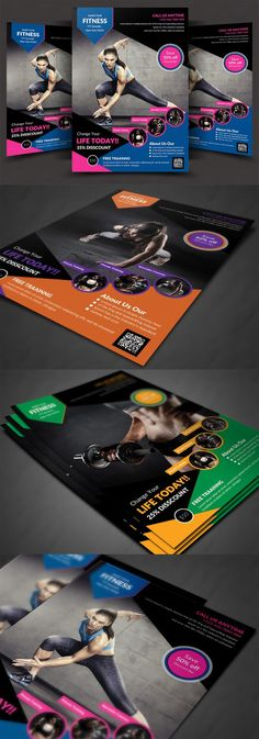 Sports \ Fitness Flyer Template AI, EPS, PSD Flyer Templates - fitness flyer