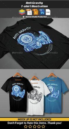 Anti Gravity T-Shirt Illustration Template PSD, Vector EPS, AI. Download here: http://graphicriver.net/item/anti-gravity/15077441?ref=ksioks