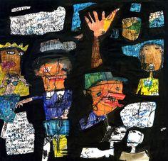 """massa di corpi"" mixed media on paper 30x30cm 2015 #art #drawing #painting #arte #bruscella"