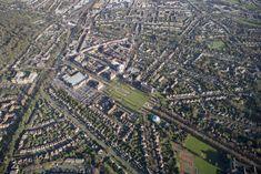 Letchworth, England, The Garden City Green Belt, Master Plan, Civil Engineering, Urban Planning, Aerial View, 19th Century, Britain, City Photo, Arch