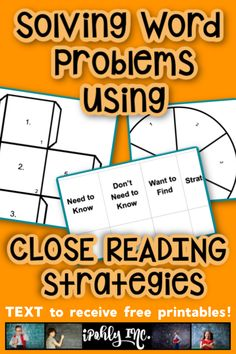 When students have the opportunity to solve REAL problems that mean something to them, math happens naturally.  Here are some close reading strategies and free printable templates to help get your students solving word problems! #closereadingstrategies, #closereadingactivities, #mathwordproblems, #freetemplates, #printable, #editable