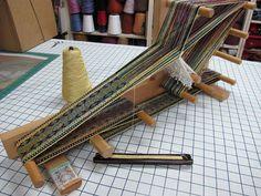 Inkle loom weaving by Daryl Lancaster. Beautiful!